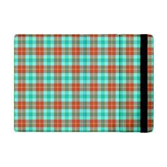 Aqua Orange Plaid Ipad Mini 2 Flip Cases