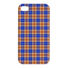 Orange Blue Plaid Apple Iphone 4/4s Hardshell Case