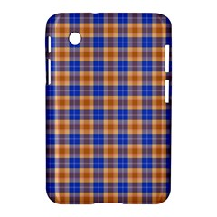 Orange Blue Plaid Samsung Galaxy Tab 2 (7 ) P3100 Hardshell Case