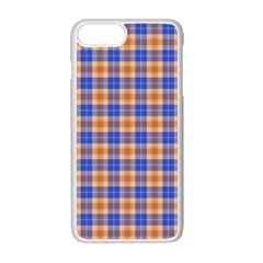 Orange Blue Plaid Apple Iphone 7 Plus Seamless Case (white)