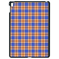 Orange Blue Plaid Apple Ipad Pro 9 7   Black Seamless Case