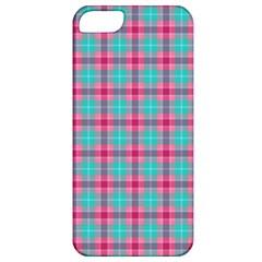 Blue Pink Plaid Apple Iphone 5 Classic Hardshell Case