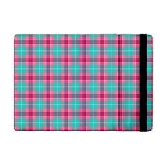 Blue Pink Plaid Apple Ipad Mini Flip Case by snowwhitegirl