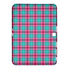 Blue Pink Plaid Samsung Galaxy Tab 4 (10 1 ) Hardshell Case