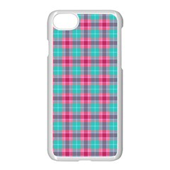 Blue Pink Plaid Apple Iphone 7 Seamless Case (white)
