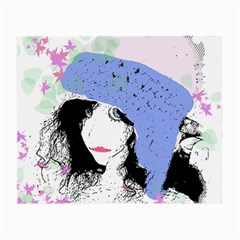 Girl With Hat Small Glasses Cloth (2 Side)