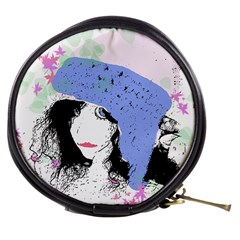 Girl With Hat Mini Makeup Bags