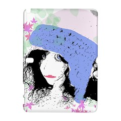 Girl With Hat Samsung Galaxy Note 10 1 (p600) Hardshell Case
