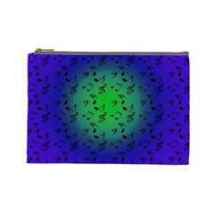 Blue Music Green Moon Cosmetic Bag (large)