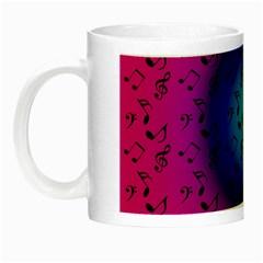 Pink Music Blue  Moon Night Luminous Mugs