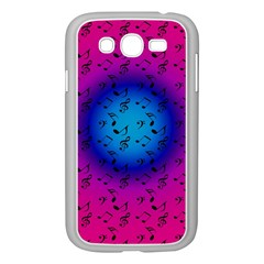 Pink Music Blue  Moon Samsung Galaxy Grand Duos I9082 Case (white)