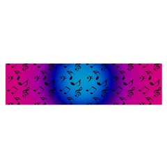 Pink Music Blue  Moon Satin Scarf (oblong)