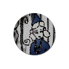 Pixie Girl Stained Glass Magnet 3  (round)