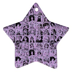 Lilac Yearbok Star Ornament (two Sides)