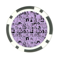 Lilac Yearbok Poker Chip Card Guard (10 Pack)