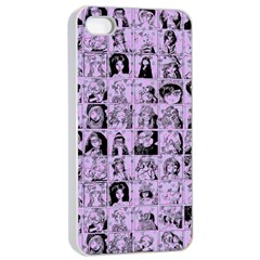 Lilac Yearbok Apple Iphone 4/4s Seamless Case (white)
