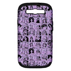 Lilac Yearbok Samsung Galaxy S Iii Hardshell Case (pc+silicone)