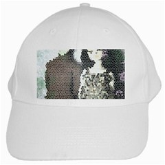 Dolls Stained  Glass White Cap