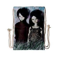 Dolls In The Grass Drawstring Bag (small)