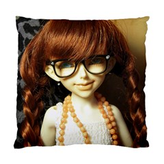Red Braids Girl Standard Cushion Case (one Side)