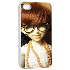 Red Braids Girl Apple Iphone 4/4s Seamless Case (white)