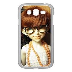 Red Braids Girl Samsung Galaxy Grand Duos I9082 Case (white) by snowwhitegirl