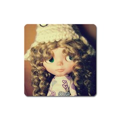 Cute Doll Square Magnet by snowwhitegirl