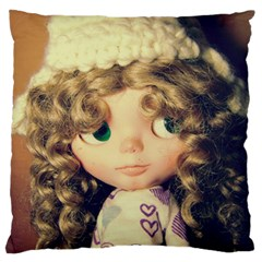 Cute Doll Large Cushion Case (one Side)