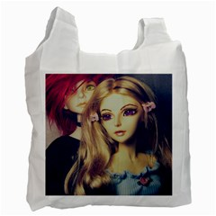 Doll Couple Recycle Bag (one Side) by snowwhitegirl