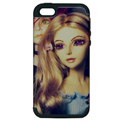 Doll Couple Apple Iphone 5 Hardshell Case (pc+silicone)