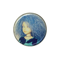 Blue Hair Boy Hat Clip Ball Marker