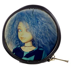 Blue Hair Boy Mini Makeup Bags
