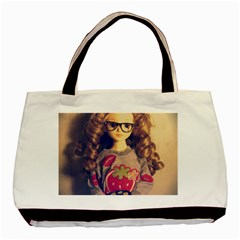 Eating Sushi Basic Tote Bag by snowwhitegirl