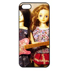 Playing The Guitar Apple Iphone 5 Seamless Case (black)