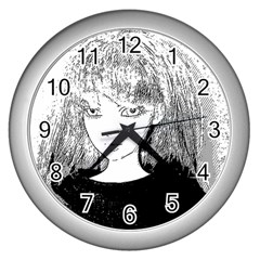 Girl Wall Clock (silver)