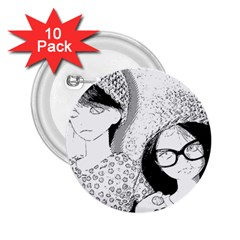 Twins 2 25  Buttons (10 Pack)