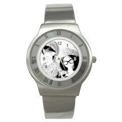 Twins Stainless Steel Watch