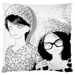 Twins Large Flano Cushion Case (two Sides)