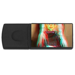 Eating Lunch 3d Rectangular Usb Flash Drive
