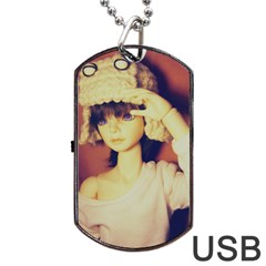 Captain Dog Tag Usb Flash (two Sides)