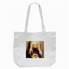 Eating Lunch Tote Bag (white)