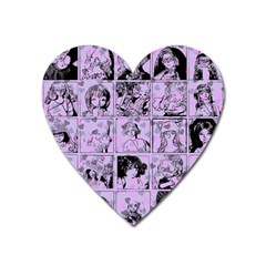 Lilac Yearbook 1 Heart Magnet