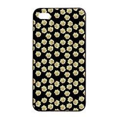 Antique Flowers Black Apple Iphone 4/4s Seamless Case (black)