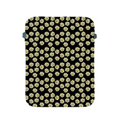 Antique Flowers Black Apple Ipad 2/3/4 Protective Soft Cases