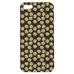 Antique Flowers Brown Apple Iphone 5 Hardshell Case