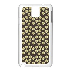 Antique Flowers Brown Samsung Galaxy Note 3 N9005 Case (white)