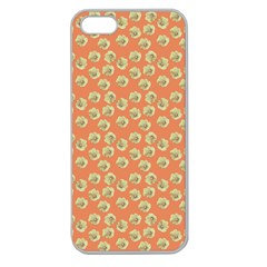 Antique Flowers Peach Apple Seamless Iphone 5 Case (clear)