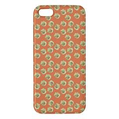 Antique Flowers Peach Apple Iphone 5 Premium Hardshell Case by snowwhitegirl
