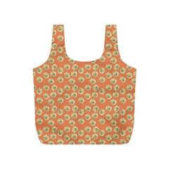 Antique Flowers Peach Full Print Recycle Bag (s)