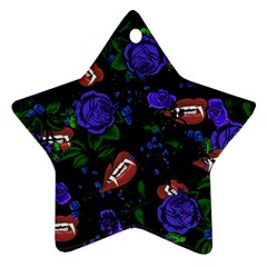 Blue Rose Vampire Star Ornament (two Sides)